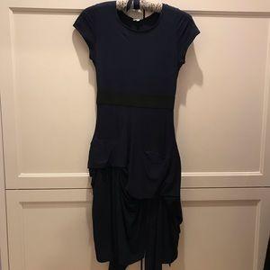 Morgane LeFey dark blue layered dress